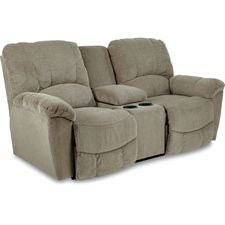 Hayes La-Z-Time® Full Reclining Loveseat w/ Console