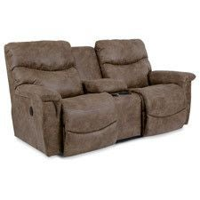 James PowerRecline La-Z-Time® Full Reclining Loveseat w/ Console