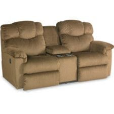 lancer laztime full reclining loveseat w console - Loveseat Recliners