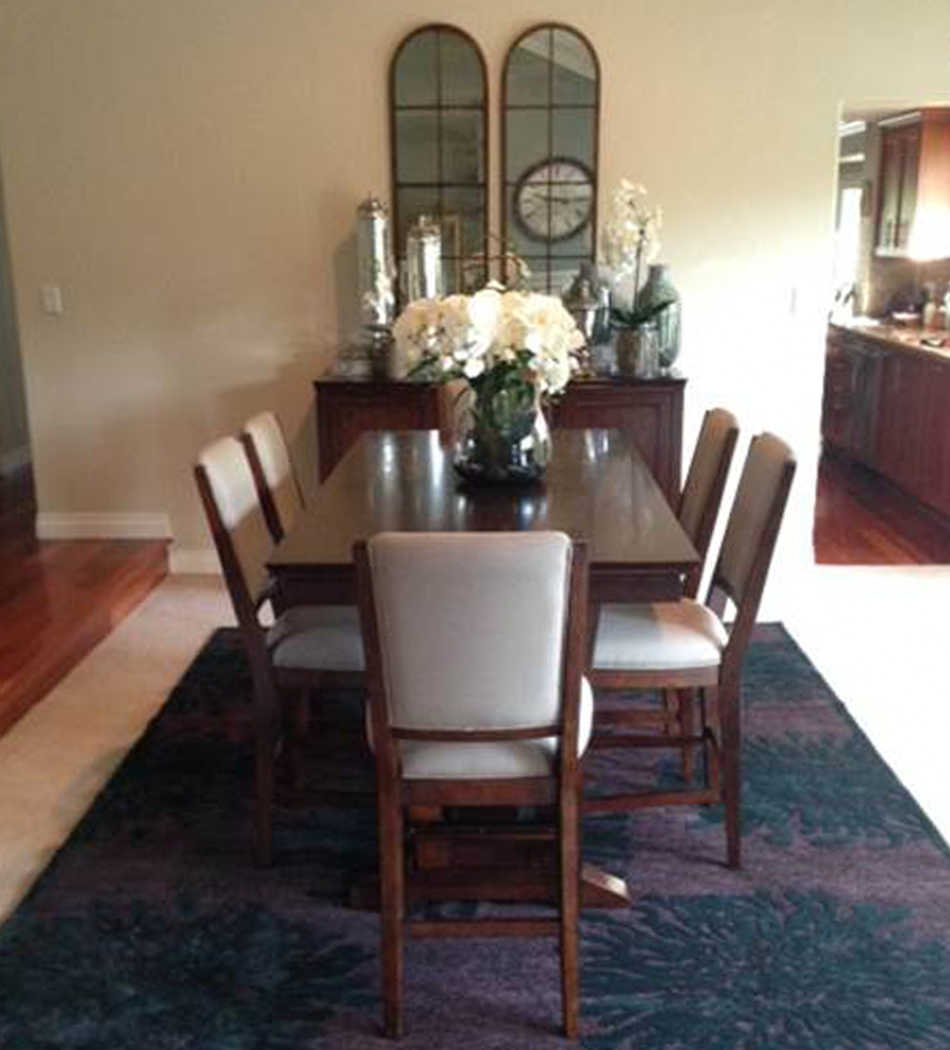 Client's finished dining room