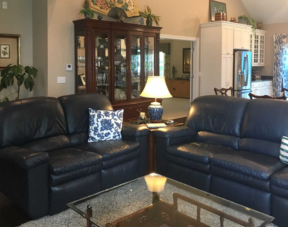 Client's redesigned living room
