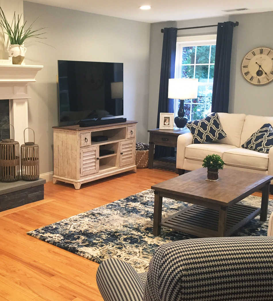 Client's finished living room
