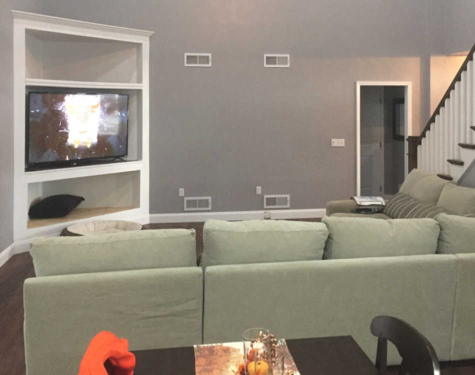 Client's living room before design services