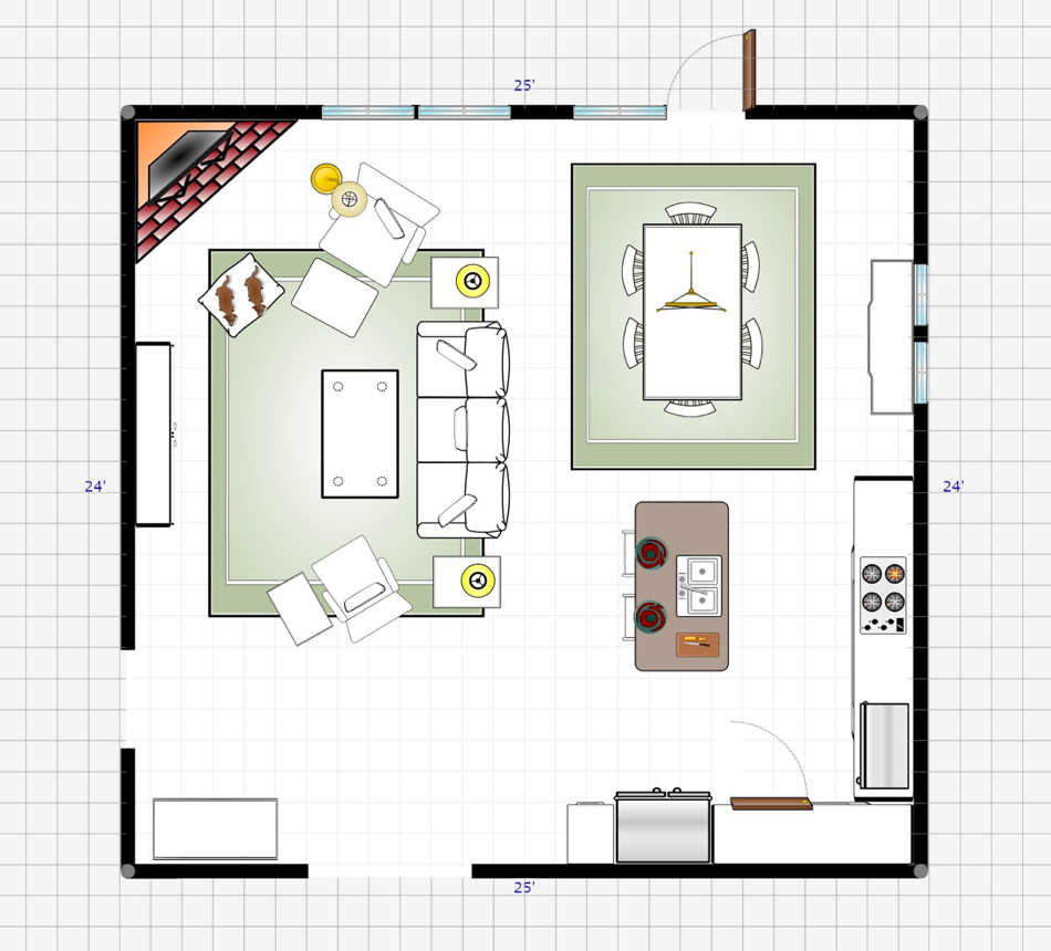 Computer-generated room plan