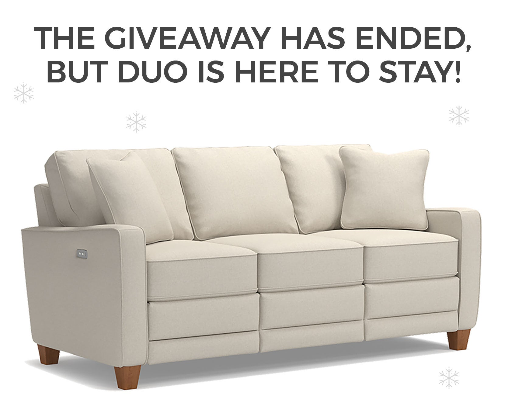 The giveaway has ended, but duo is here to stay!