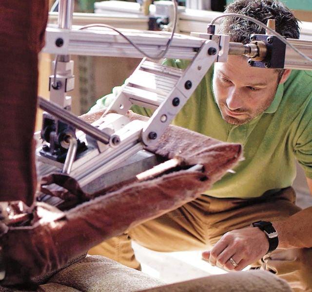 Maker testing recliner durability
