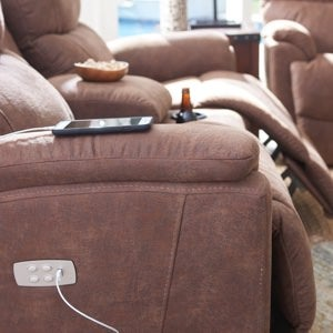 Closeup of power sofa