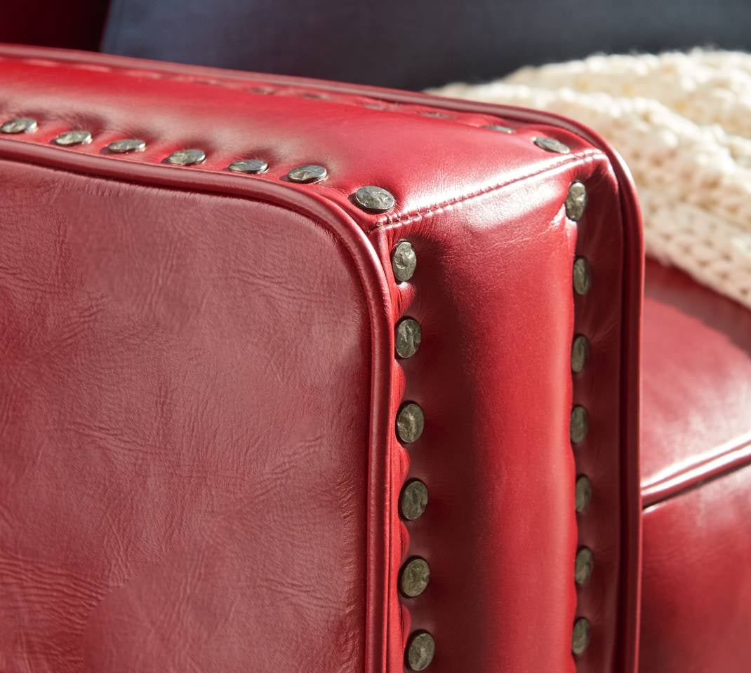 Closeup of analine leather Makenna duo® Reclining Sofa