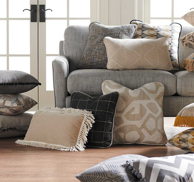 Scene with a variety of accent pillows