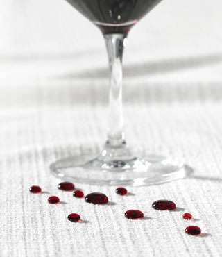 iClean™ fabric repelling drops of wine
