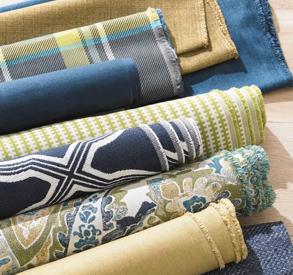 Rolls of fabric