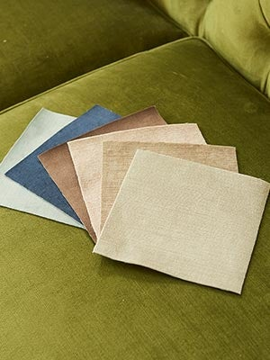 Closeup of conserve Sustainable Fabrics swatches