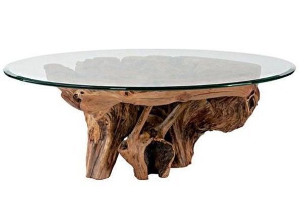 Table basse ronde à racines Hidden Treasures
