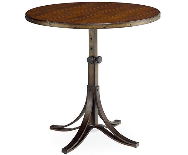 Table d'appoint ajustable ronde Mercantile