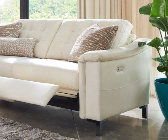 Luke duo® sofa with legrest partially extended