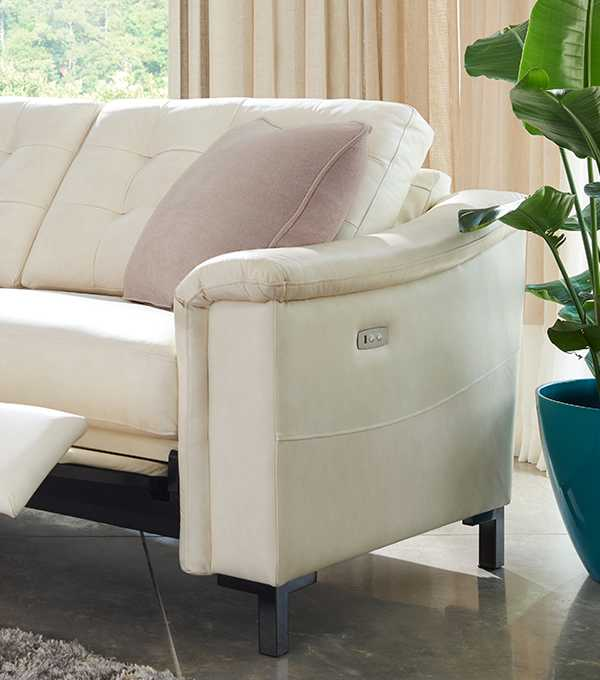 Luke duo® sofa with leg rest partially extended