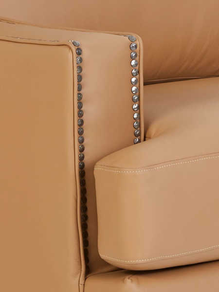 Closeup of leather arm of Makenna Duo® Reclining Sofa