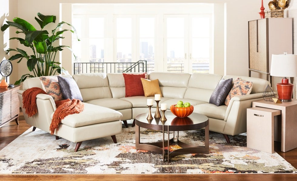 Mid-century modern room scene with Arrow Sectional