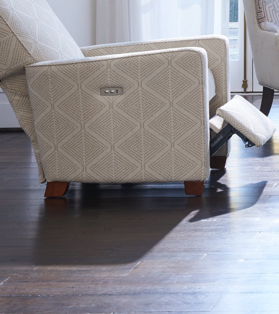 Close-up of reclined Midtown Swivel Chair
