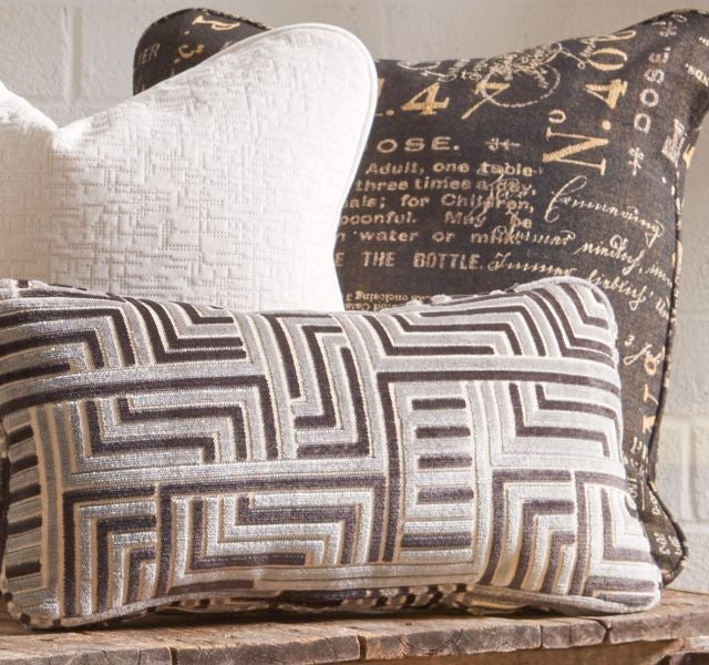 Closeup of custom accent pillows