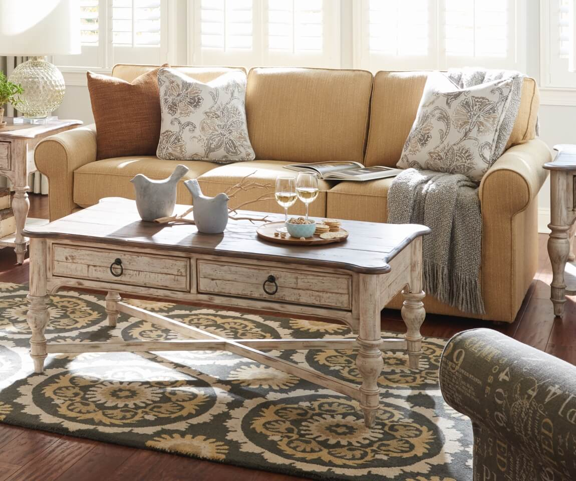 Room scene with Phoebe Sofa and natural accessories