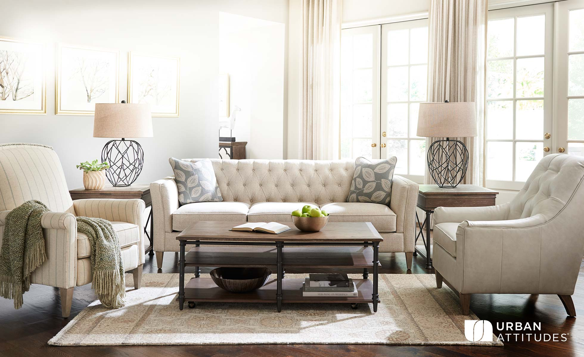 Living room scene with Alexandria Sofa