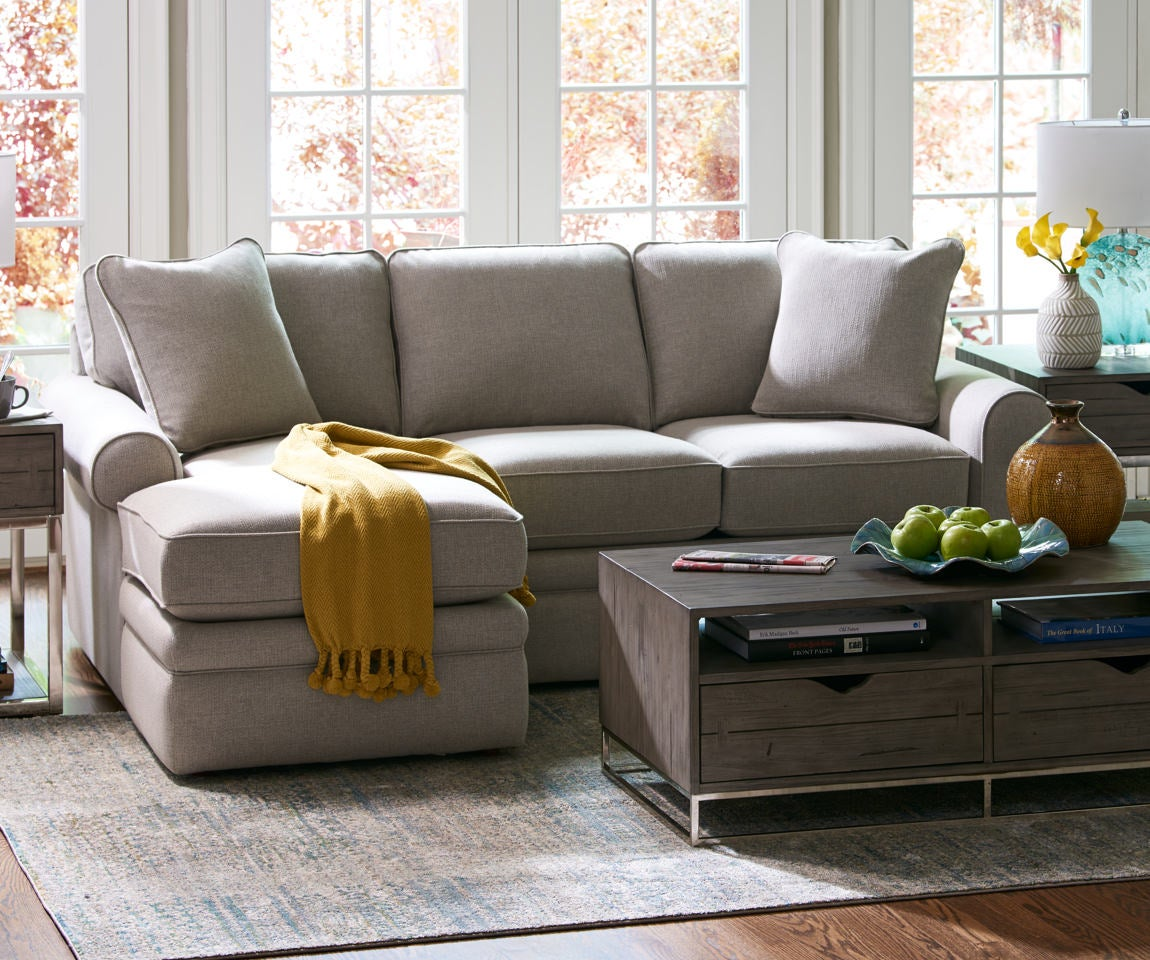 Lazy Boy Apartment Size Sectional Sofa | Baci Living Room
