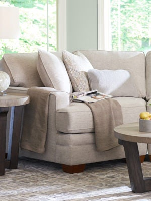 Closeup of Meyer Sectional with Right-Arm Sitting Cuddler
