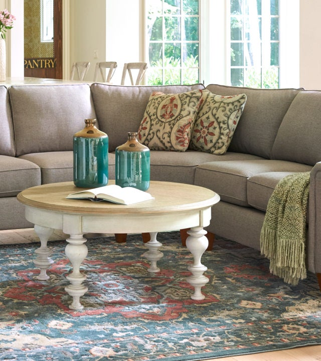 Living room scene with Leighton Sectional