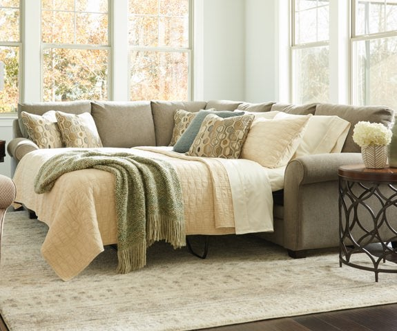 Room scene with Natalie Queen Sleep Sectional