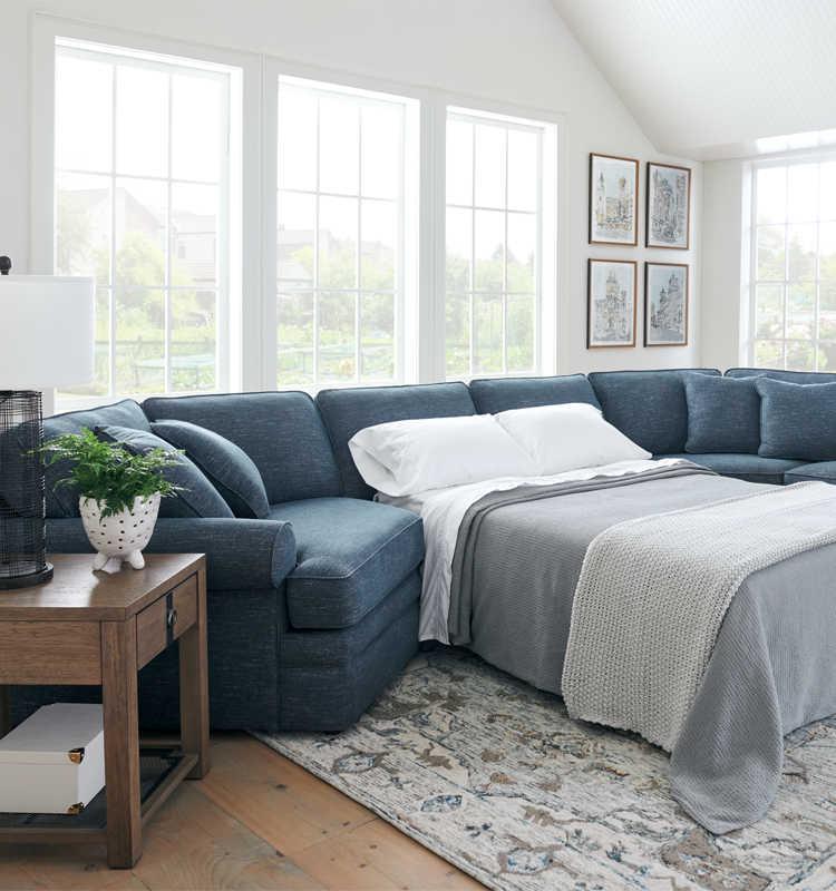 Room scene with Dixie Queen Sleep Sofa