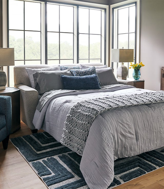 Room scene with Dixie Queen Sleep Sofa
