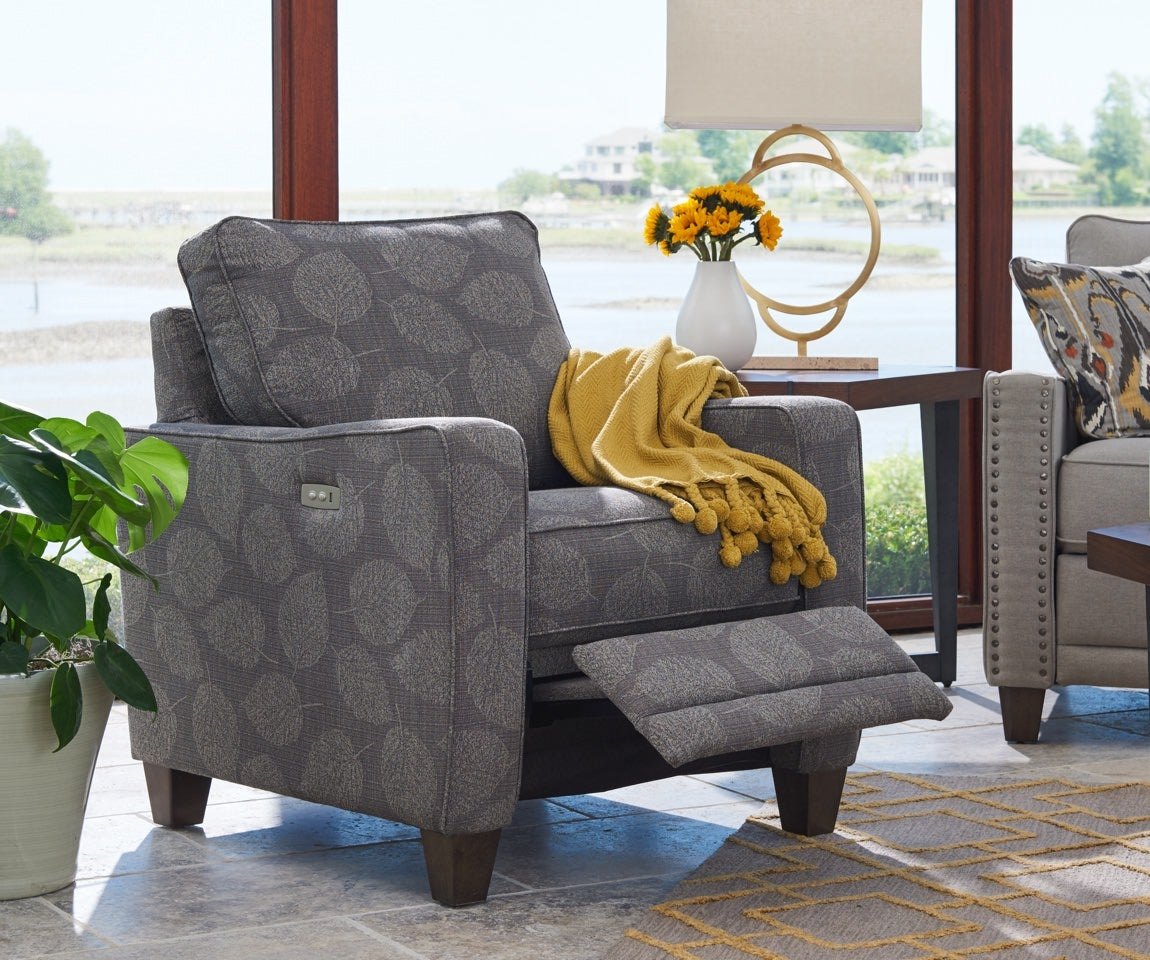 Room scene with Makenna duo® Reclining Chair and accessories