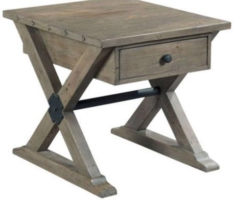 Reclamation Trestle Drawer End Table