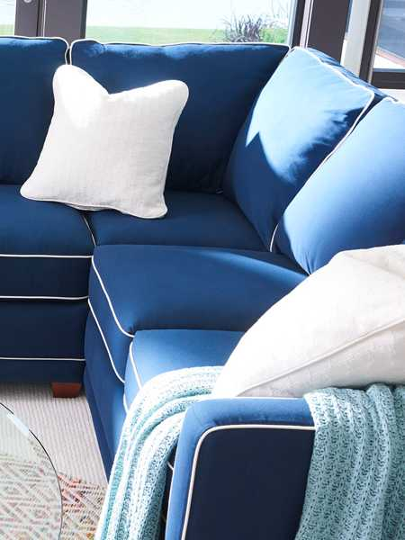 Closeup of Allegra Swivel Chair with custom cover