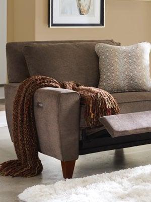 Closeup of Edie duo® Reclining Chair & A Half