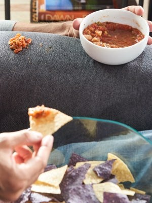 Salsa spill on iClean™ cover
