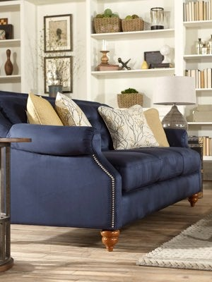 Aberdeen sofa with custom colors and accessories