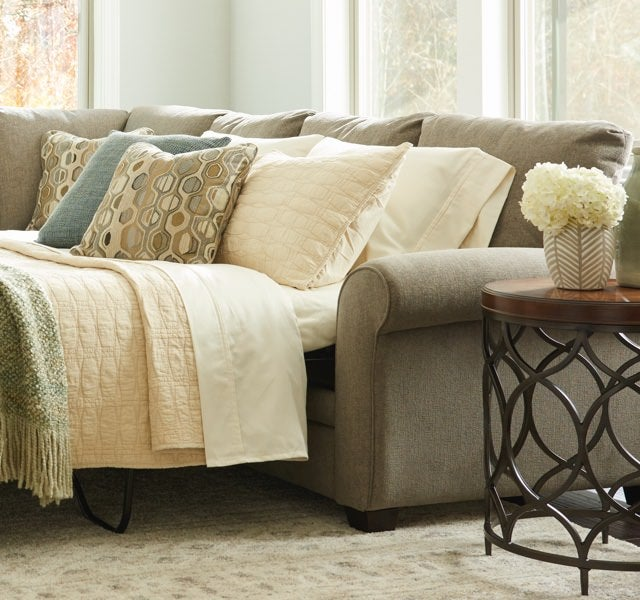 Room scene with Collins sectional with sleeper
