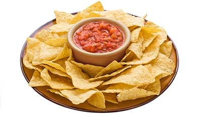 Plate of chips and salsa
