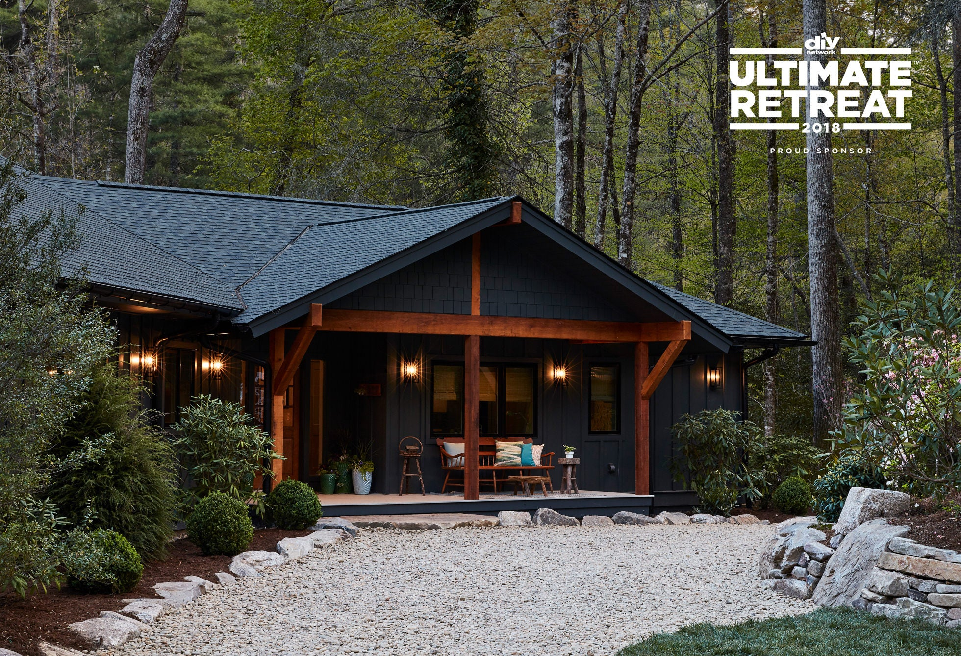 DIY Network Ultimate Retreat™ 2018 front of home in the Blue Ridge Mountains