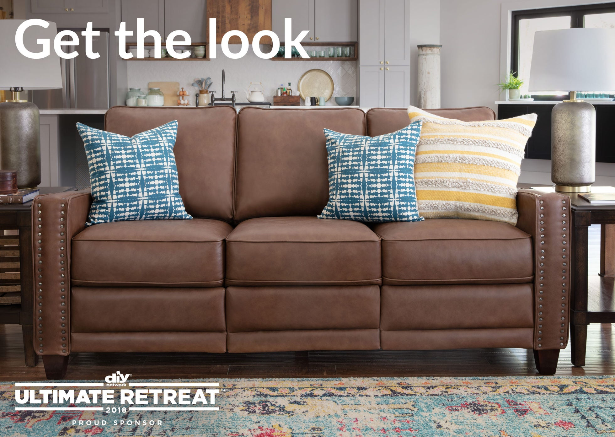 Living room scene with Makenna duo® Reclining Sofa