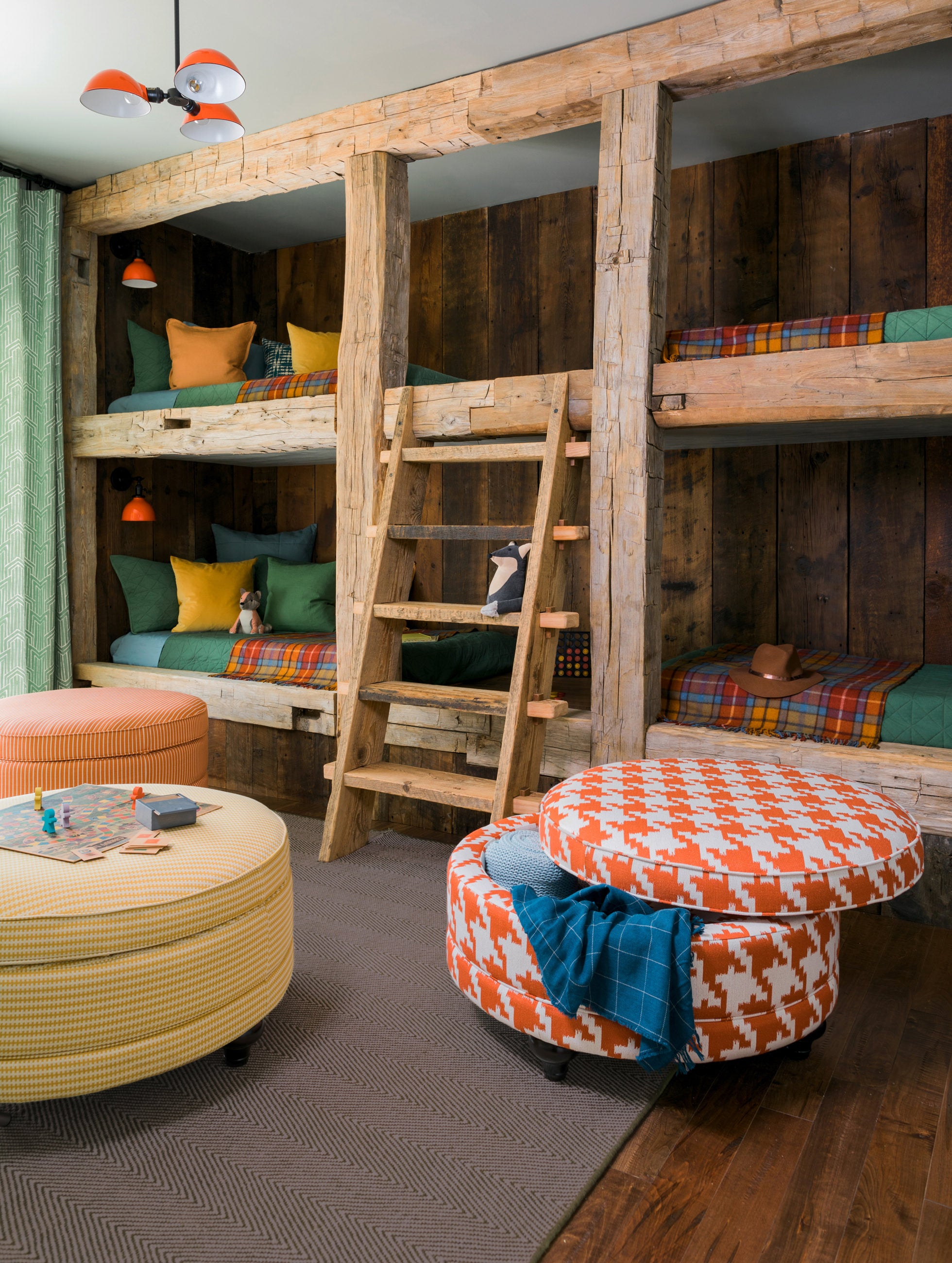 Bunk room with Coronet Premier Ottomans