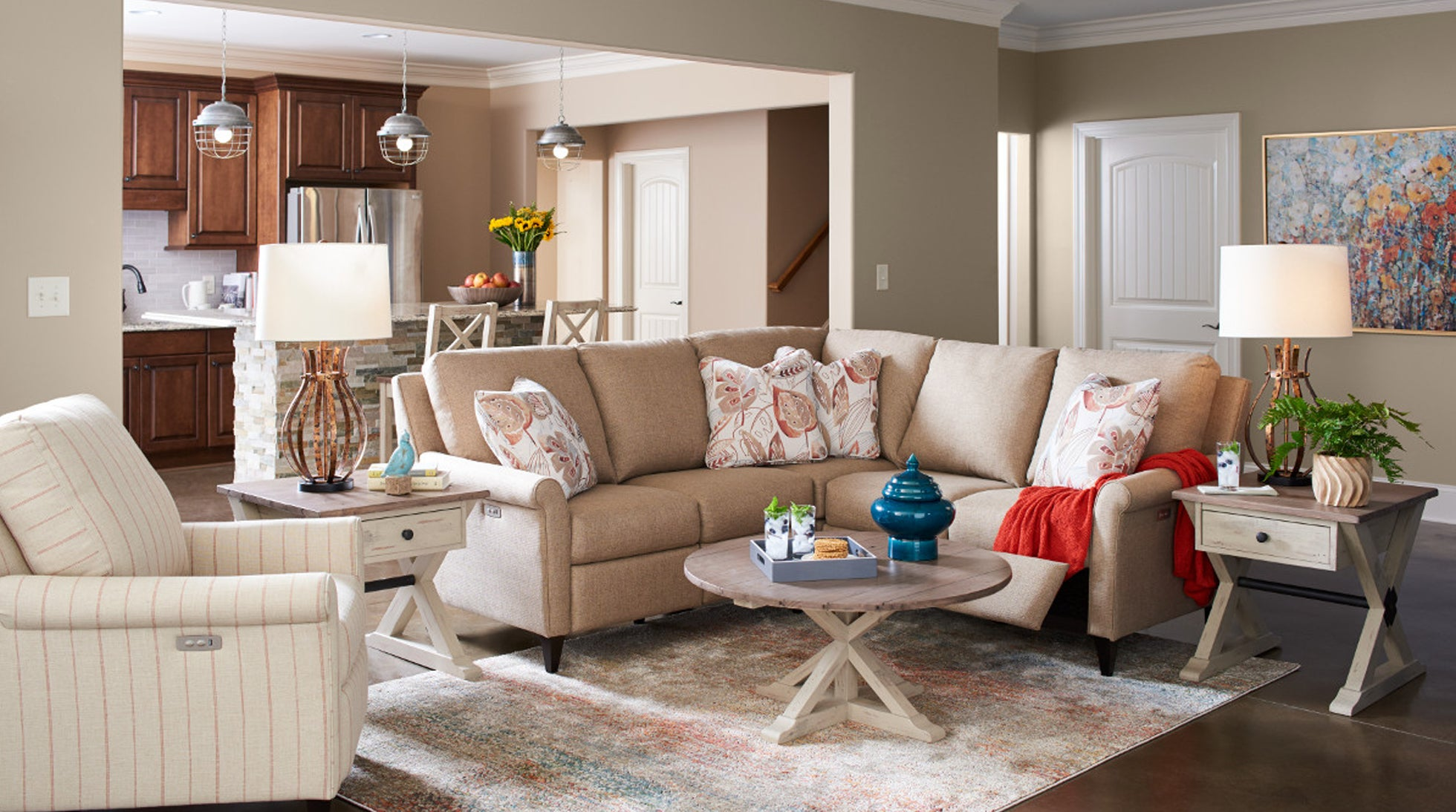 Abby duo® Sectional room scene