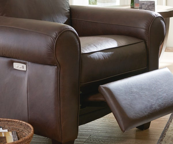 Bennett duo reclining sofa detail