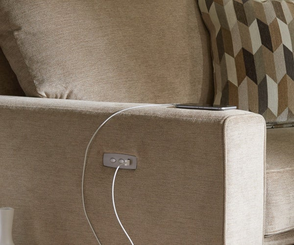 Edie duo reclining sofa detail