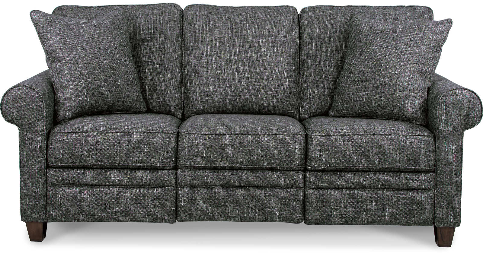 Luke duo reclining sofa front view