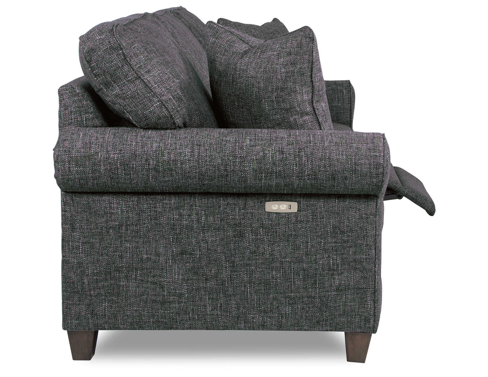 Luke duo reclining sofa side view