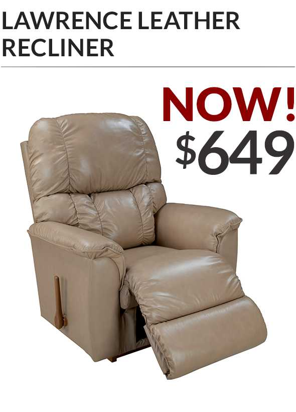 Lawrence Rocking Recliner in leather