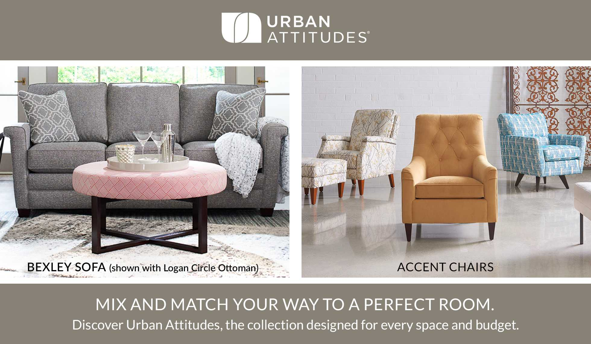 Urban Attitudes - Mix and match your way to a perfect room.